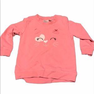 🎃 Cute pink kitty sweatshirt. Girls size 3T.